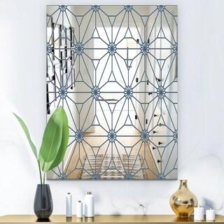 Designart Blue Illusion Wall Mirror (29.5 in. wide x 39.4 in. high)