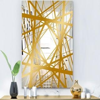 Designart 'Capital Gold Jangle 2' Glam Mirror - Modern Decorative Mirror