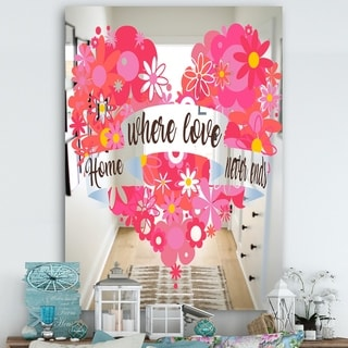 Designart 'Home Where Lover Never Ends IV' Cabin and Lodge Mirror - Wall Mirror - Multi