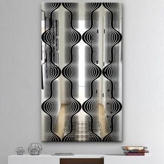 Designart 'Capital Gold Lively 7' Mid-Century Mirror - Decorative Mirror - Black