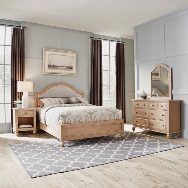 Cambridge Queen Bed, Dresser with Mirror, & Night Stand