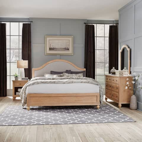 Cambridge King Bed, Dresser with Mirror, & Night Stand