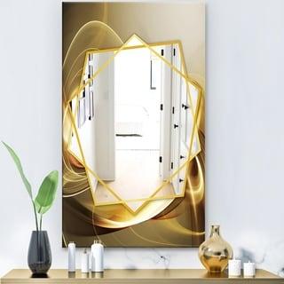 Designart 'Elegant Modern Sofa' Modern Mirror - Frameless Contemporary Wall Mirror - Gold