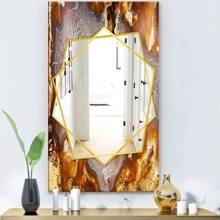 Designart 'Eye Of The Storm' Modern Mirror - Frameless Contemporary Wall Mirror - White
