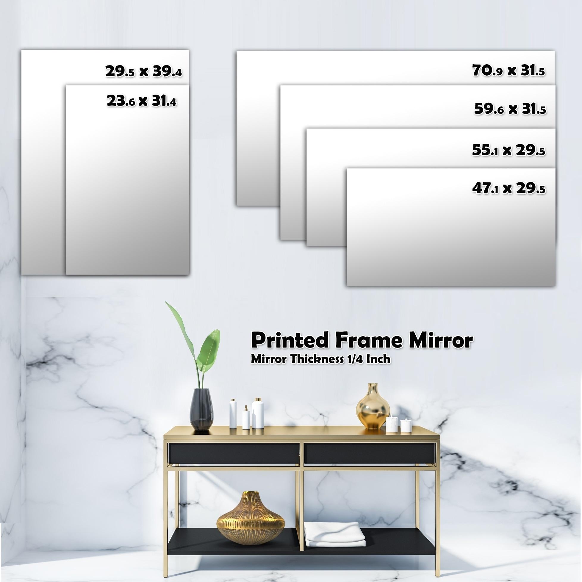 Shop Designart Vintage Neutral Pattern Modern Mirror Frameless Wall Mirror On Sale Overstock 28022519