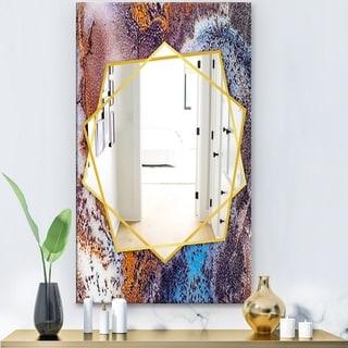Designart 'Geode 3' Modern Mirror - Frameless Wall Mirror - White