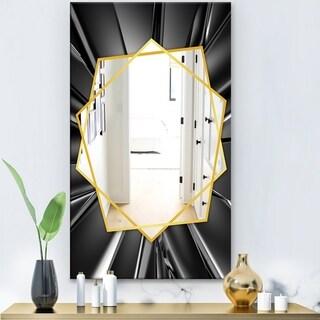 Designart 'Futuristic Crystal' Modern Mirror - Frameless Wall Mirror - Multi