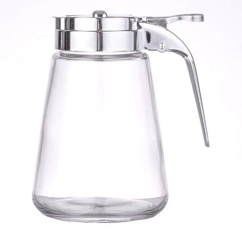 Honey/Cream/Sugar/Syrup Glass Dispenser Retracting Spout Restaurant Pancake House Style 10oz.