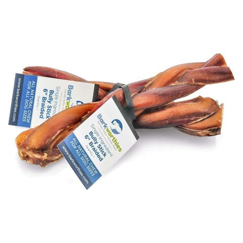 Barkworthies Bully Stick - Braided - 06''