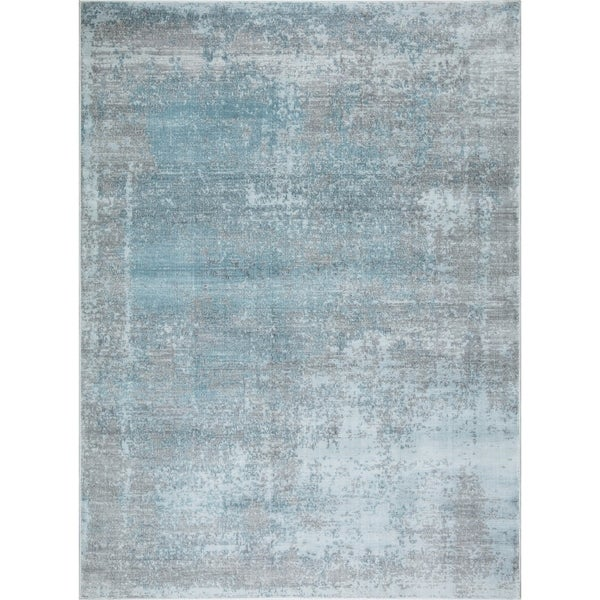 "Mod-Arte Mirage Collection Abstract Design Soft & Plush Area Rug - 7'10""X10'2"""