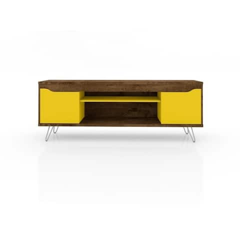 """Baxter Mid Century - Modern 62.99"""" TV Stand with 4 Shelves"""