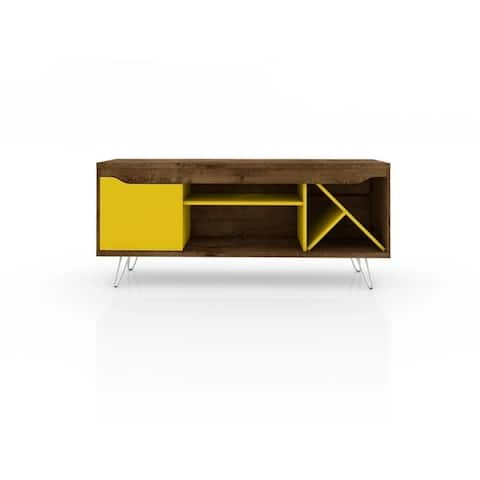 """Baxter Mid Century- Modern 53.54"""" TV Stand with Wine Rack"""