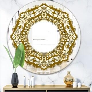 Designart 'Mandala' Modern Mirror - Contemporary Oval or Round Wall Mirror - Multi