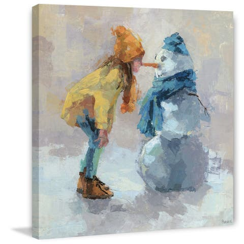 Taylor & Olive Handmade Snowman Love Print on Wrapped Canvas