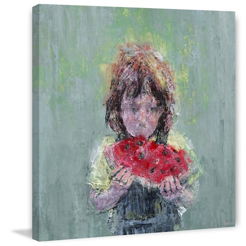 Taylor & Olive Handmade Watermelon Love II Print on Wrapped Canvas