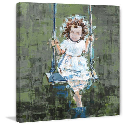 Taylor & Olive Handmade Happy Swing Print on Wrapped Canvas