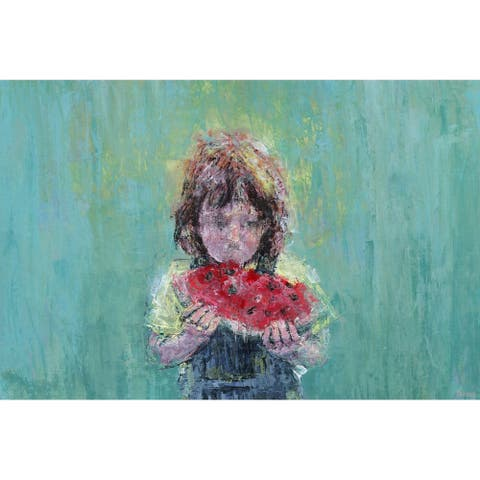 Taylor & Olive Handmade Watermelon Love Print on Wrapped Canvas