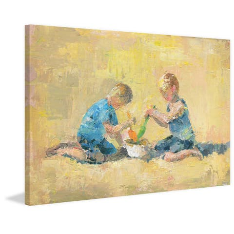 Taylor & Olive Handmade Happy Playground Print on Wrapped Canvas