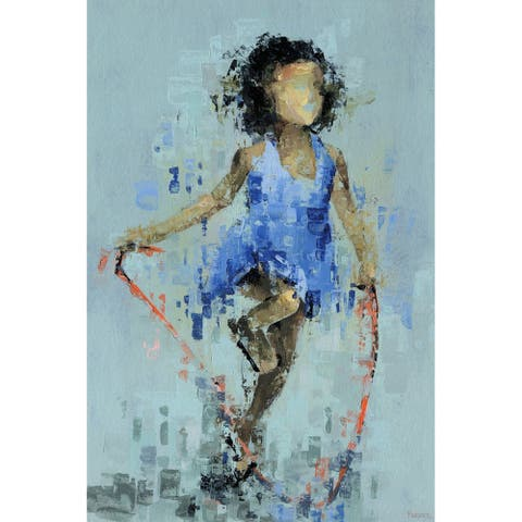 Taylor & Olive Handmade Skipping Rope Print on Wrapped Canvas