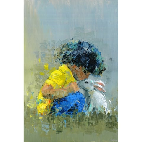 Taylor & Olive Handmade Loving Bunny Print on Wrapped Canvas