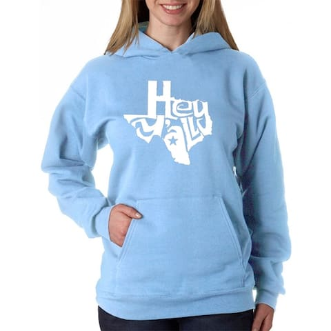 Women's Word Art Hooded Sweatshirt -Hey Ya'll - LA Pop Art