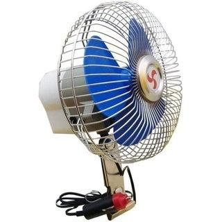 """6"""" Portable Cooling Oscillating Car Fan (12 V) with Cigarette Lighter Plug"""