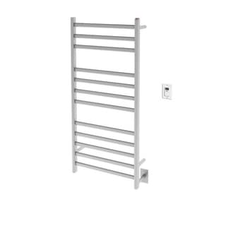 Ancona Prima Dual XL 12-Bar Hardwired and Plug-in Towel Warmer in Brushed Stainless Steel with Timer