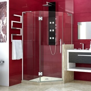 """DreamLine Prism Plus 40 in. x 40 in. x 72 in. Hinged Shower Enclosure with Half Panel - 40"""" x 40"""""""