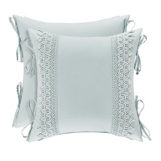 Five Queens Court Evelina 18 Inch Square Decorative Throw Pillow
