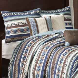 Link to Copper Grove Macon Blue Quilted 6-piece Coverlet Set in King/California King (As Is Item) Similar Items in As Is