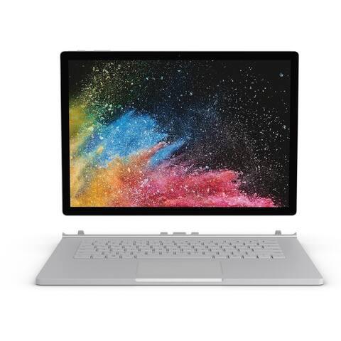 "Microsoft Surface Book 2 15"" Touchscreen Gaming Notebook - 3240 x 2160 - Core i7 i7-8650U - 16 GB RAM - 1 TB SSD - Silver"