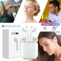 TWS 5.0 Earbuds Touch Headset Headphone with HIFI Sound Quality Built-in Mic Auto-pairing Hand-free Earbuds with Charging Box
