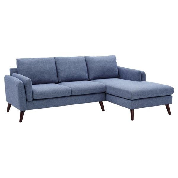 Shop Founders Mid Century Modern Right Facing Sectional Sofa ...