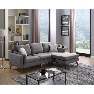 Founders Mid Century Modern Right Facing Sectional Sofa Chaise