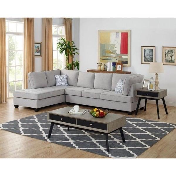 Shop Copper Grove Adenau Linen Reversible Sectional Sofa ...