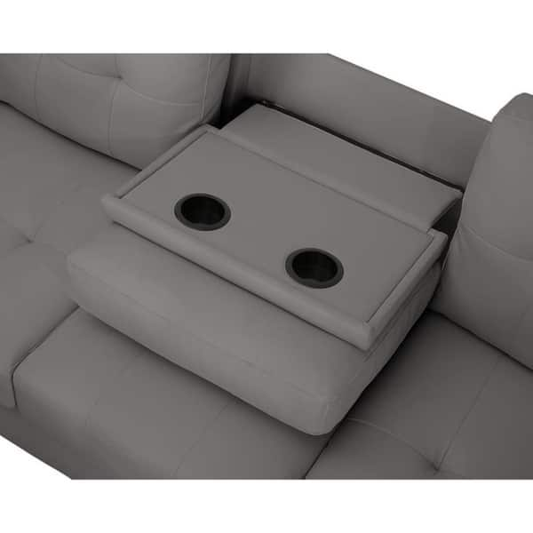 Phenomenal Shop Lilola Rebecca Leatherette Reversible Sectional With Pdpeps Interior Chair Design Pdpepsorg