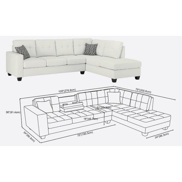 Sensational Shop Lilola Rebecca Leatherette Reversible Sectional With Pdpeps Interior Chair Design Pdpepsorg