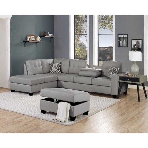 Remarkable Shop Lilola Rebecca Leatherette Reversible Sectional With Pdpeps Interior Chair Design Pdpepsorg