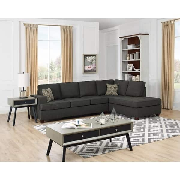 Shop Copper Grove Franconville Fabric Sleeper Sectional Sofa ...