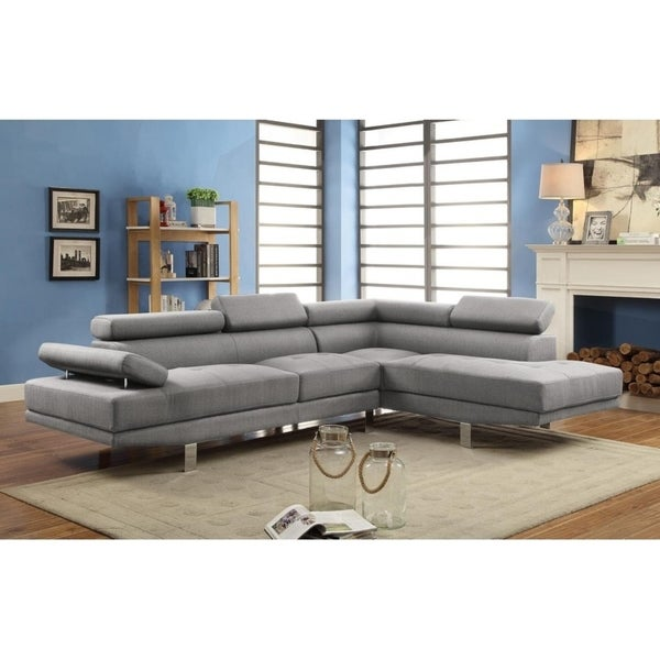 LILOLA Marywood Linen Sectional Sofa