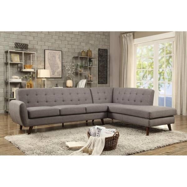 Shop LILOLA Belterra Dorris Fabric Sectional Sofa - Free ...