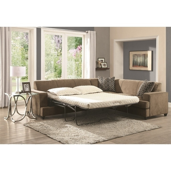 Admirable Copper Grove Lievin Suede Sleeper Sectional Sofa Gmtry Best Dining Table And Chair Ideas Images Gmtryco