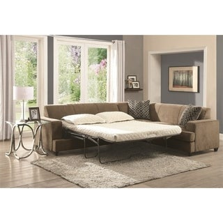 Copper Grove Lievin Suede Sleeper Sectional Sofa