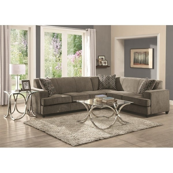 Terrific Copper Grove Lievin Suede Sleeper Sectional Sofa Gmtry Best Dining Table And Chair Ideas Images Gmtryco