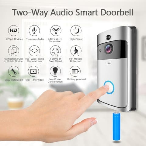 WiFi Wireless Doorbell Two-Way Audio Smart Doorbell Security Camera HD Doorbell Chime
