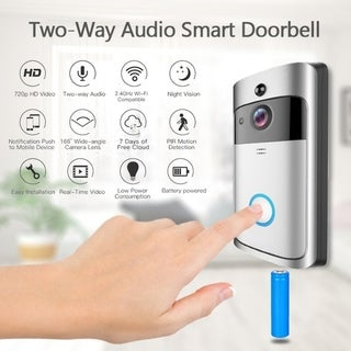 Link to WiFi Wireless Doorbell Two-Way Audio Smart Doorbell Security Camera HD Doorbell Chime Similar Items in Projectors