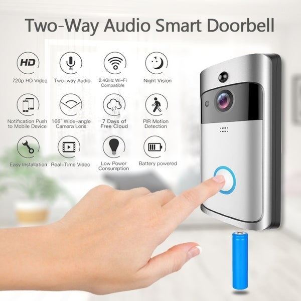 Shop WiFi Wireless Doorbell Two-Way Audio Smart Doorbell