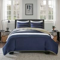 Comfort Spaces Justin Blue Quilt Mini Set