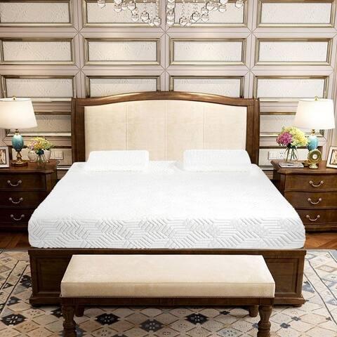 Comfort Collection 10-inch Three Layers Cool Medium High Softness Foam Mattress Pad 2 Pillows