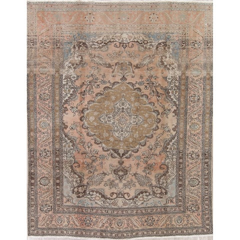 Gracewood Hollow Capildeo Hand-knotted Distressed Wool Persian Area Rug - 10'6 x 7'9
